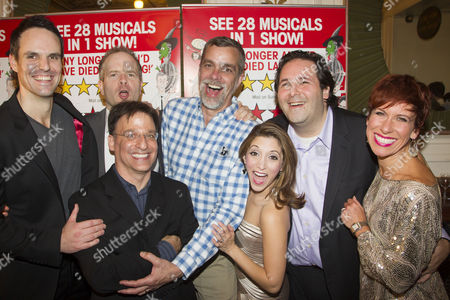 Ben Lewis (Cast), Damian Humbley (Cast), Joel Fram (Musical Director), Phillip George (Director), Christina Bianco (Cast), David Babani (Artistic Director) and Anne-Jane Casey (Cast)