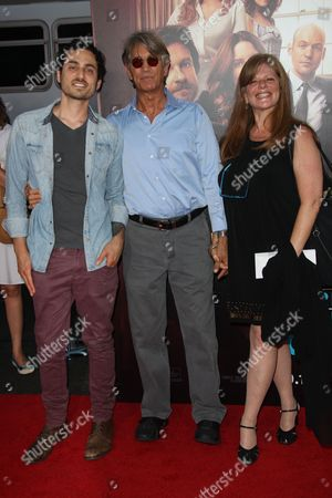 Stock Picture of Eric Roberts WIfe Eliza Roberts and stepson Keaton Simons