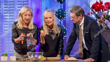 Anna Webb and Jo Good with Alan Titchmarsh