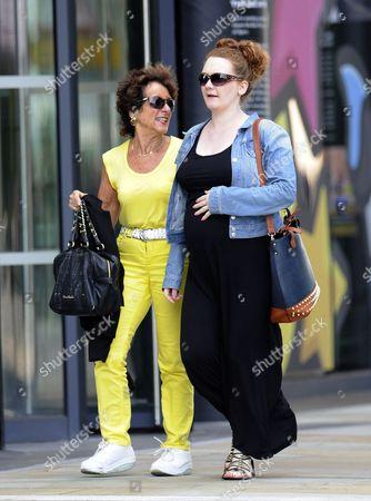 Jennie McAlpine walks around Media City with a friend.