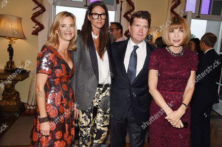 Brooke Barzun, Jenna Lyons, Matthew Barzun and Anna Wintour