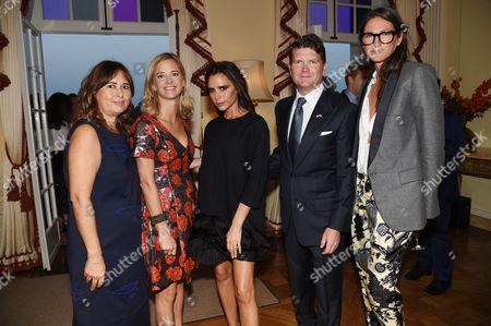 Alexandra Shulman, Brooke Barzun, Victoria Beckham, Matthew Barzun and Jenna Lyons