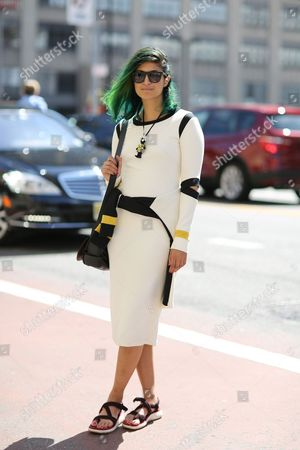 Editorial photo of Street style, Spring Summer 2015, Mercedes-Benz Fashion Week, New York, America - 11 Sep 2014