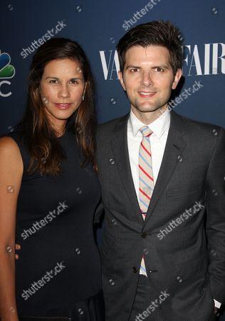 Naomi Sablan and Adam Scott