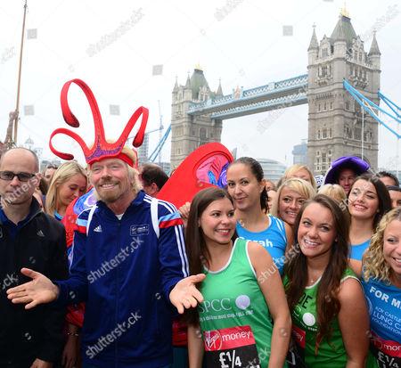 Marathon director Hugh Brasher and Sir Richard Branson