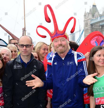 Stock Image of Marathon director Hugh Brasher and Sir Richard Branson