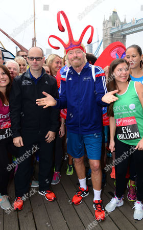Stock Picture of Marathon director Hugh Brasher and Sir Richard Branson