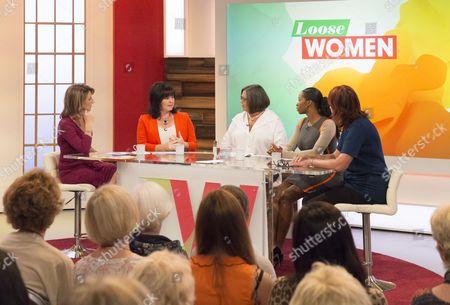 Kaye Adams, Coleen Nolan, Sandra Horley, Jamelia and Janet Street-Porter