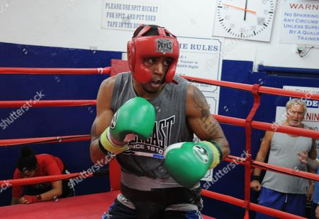 Editorial image of Ahmet Patterson training, Peacock Gym, Canning Town, London, Britain - 17 Sep 2014
