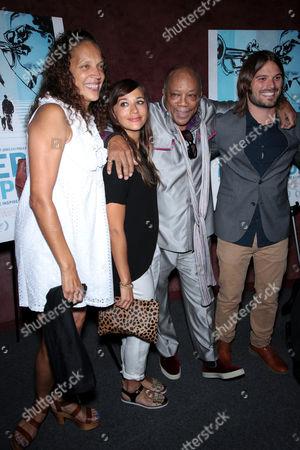 Jolie Jones Levine, Rashida Jones, Quincy Jones and Al Hicks