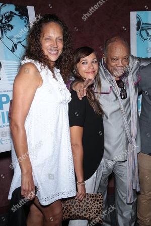 Stock Picture of Jolie Jones Levine, Rashida Jones and Quincy Jones