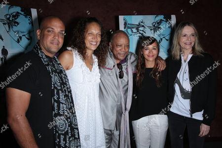 Stock Picture of Quincy Jones III, Jolie Jones Levine, Quincy Jones, Rashida Jones and Peggy Lipton