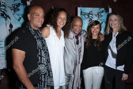Quincy Jones III, Jolie Jones Levine, Quincy Jones, Rashida Jones and Peggy Lipton