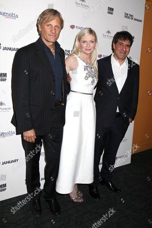 Viggo Mortensen, Kirsten Dunst and Hossein Amini