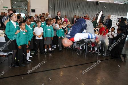 Peter Waterfield performs a backflip