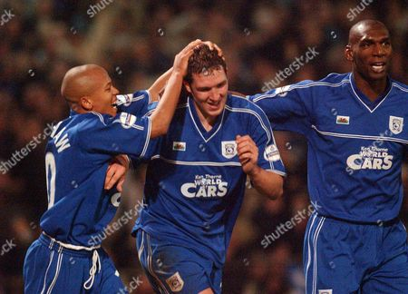 Editorial image of Scott Young is to take Cardiff City to Derby this weekend with Danny Gabbidon. 06.01.02 - Cardiff City v Leeds United - FA Cup Third Round, Britain - 18 Sep 2014