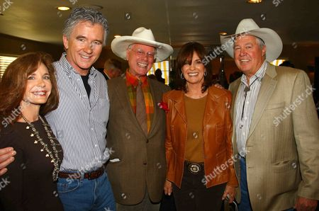 Stock Picture of Mary Crosby, Patrick Duffy, Larry Hagman, Linda Gray and Steve Kanaly
