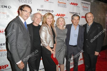 VP of Content at WNET Stephen Segaller, Director Timothy Greenfield-Sanders, Kim Cattrall, Editorial Director of AARP Myrna Blyth, John Leguizamo and VP of programming of American Masters Michael Kantor