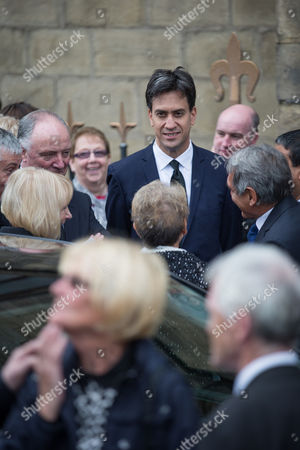 Ed Miliband After the Service
