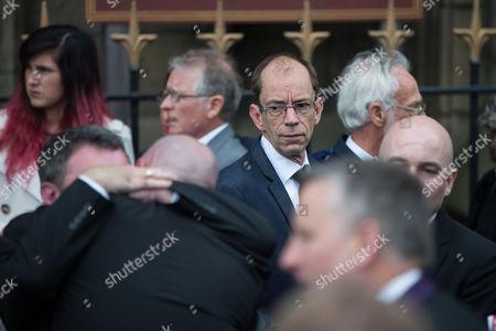 Former head of Rochdale Council Colin Lambert (in glasses)