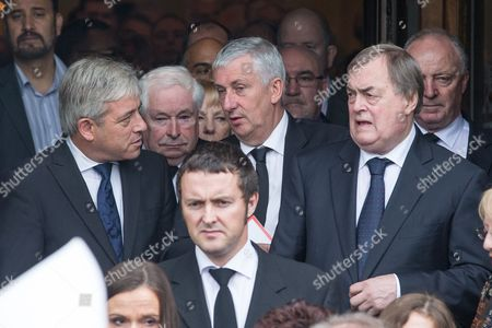 L-R Speaker of the House of Commons John Bercow, Deputy Speaker of the House of Commons Lindsay Hoyle, John Prescott