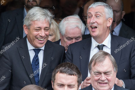 Stock Picture of L-R Speaker of the House of Commons John Bercow, Deputy Speaker of the House of Commons Lindsay Hoyle