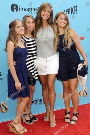 Eva LaRue with daughter Kaya McKenna Callahan and friends