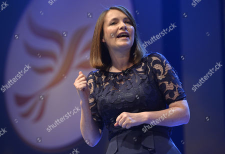 Leader Of The Welsh Liberal Democrats Kirsty Williams Speaks At The Conference Rally S- Lib Dem Party Conference At The Scottish Exhibition And Conference Centre In Glasgow Scotland.