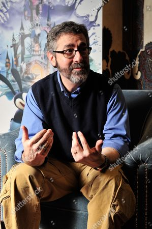 Stock Image of London United Kingdom - March 30: Portrait Of American Video Game Designer Warren Spector Photographed During An Interview In London On March 30 2012. Spector Is Best Known For Working On The Deus Ex Series Of Video Games