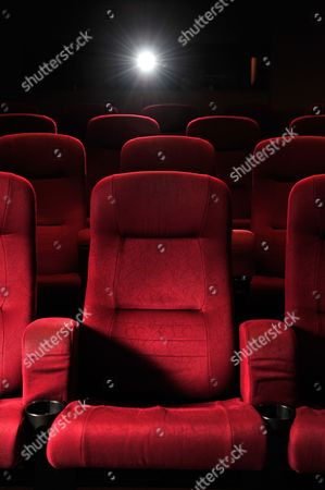 London United Kingdom - March 30: A Red Cinema Seat In The Hospital Club In London On March 30