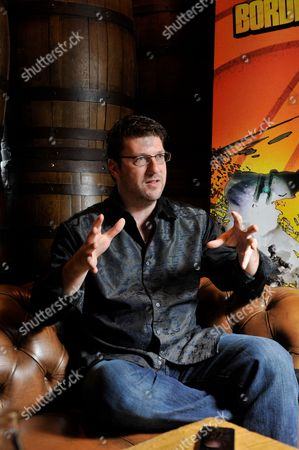 Stock Picture of London United Kingdom - July 5: Portrait Of American Video Games Developer Randy Pitchford Photographed During An Interview In London While Promoting Borderlands 2 On July 5 2012. Pitchford Is A Co-founder And Ceo Of Gearbox Software