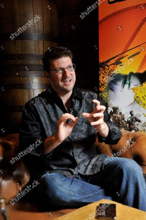 Stock Image of London United Kingdom - July 5: Portrait Of American Video Games Developer Randy Pitchford Photographed During An Interview In London While Promoting Borderlands 2 On July 5 2012. Pitchford Is A Co-founder And Ceo Of Gearbox Software