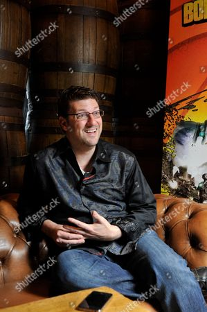 London United Kingdom - July 5: Portrait Of American Video Games Developer Randy Pitchford Photographed During An Interview In London While Promoting Borderlands 2 On July 5 2012. Pitchford Is A Co-founder And Ceo Of Gearbox Software