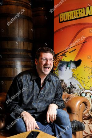 Stock Photo of London United Kingdom - July 5: Portrait Of American Video Games Developer Randy Pitchford Photographed During An Interview In London While Promoting Borderlands 2 On July 5 2012. Pitchford Is A Co-founder And Ceo Of Gearbox Software