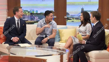 Richard Arnold and Charlie Martinez with Susanna Reid and Ben Shephard