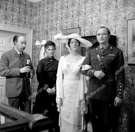 James Cossins, Kathleen Byron, Linda Thorson and Julian Glover