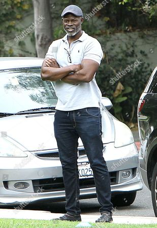 Editorial photo of Djimon Hounsou watches his son Kenzo Lee Hounsou play soccer at the Coldwater Canyon Park in Beverly Hills, California, America - 20 Sep 2014