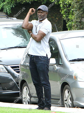 Editorial image of Djimon Hounsou watches his son Kenzo Lee Hounsou play soccer at the Coldwater Canyon Park in Beverly Hills, California, America - 20 Sep 2014