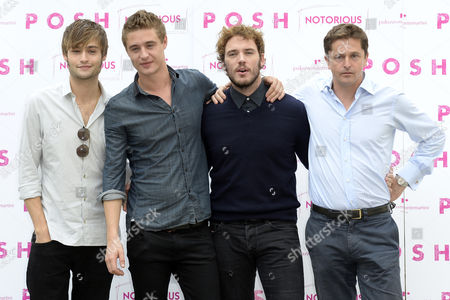 Max Irons, Sam Claflin, Douglas Booth and the Producer Pete Czernin
