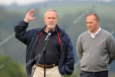 Sir Terry Matthews owner of the Celtic Manor speaking at the end of the tournament.