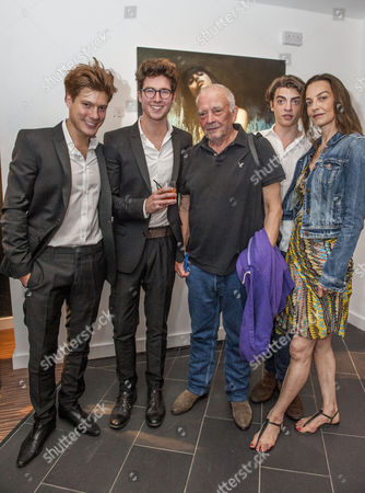 David Bailey, Sascha Bailey, Catherine Bailey and directors and curators Joseph Patrick Kennedy II and Jonny Burt