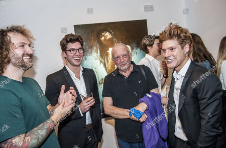Nick Ellis and David Bailey with directors and curators Joseph Patrick Kennedy II and Jonny Burt