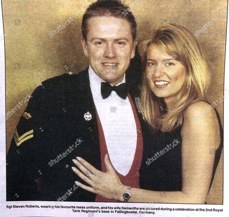 TANK COMMANDER SERGEANT STEVEN ROBERTS AND WIFE SAMANTHA
