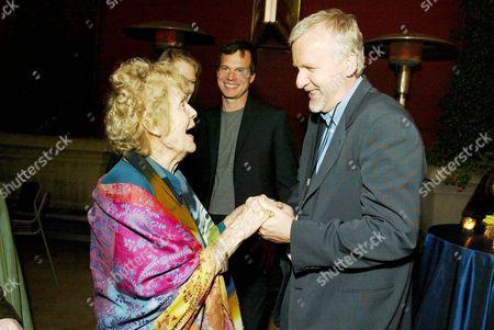 Gloria Stuart with James Cameron
