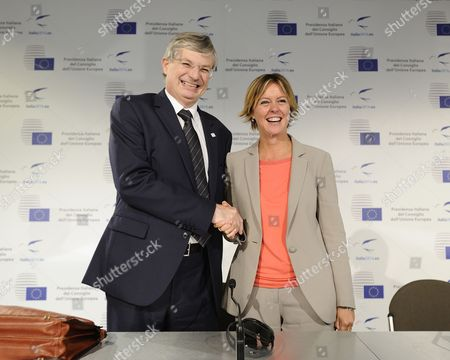Tonio Borg, European Commissioner for Health and Beatrice Lorenzin, Italian Minister of Health
