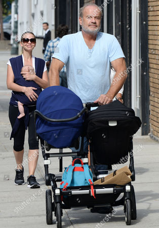 Kelsey Grammer and Kayte Walsh with children Faith Grammer and Gabriel Grammer