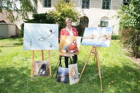 Princess Marie of Liechtenstein works in her studio