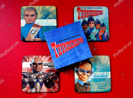 Thunderbirds souvenir coasters