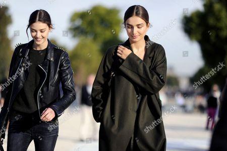 Andreea Diaconu and Diana Moldovan