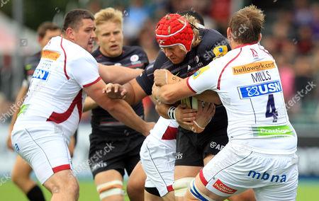 Editorial image of Saracens v Sale, Aviva Premiership Rugby, Allianz Park, London, Britain - 27 Sep 2014